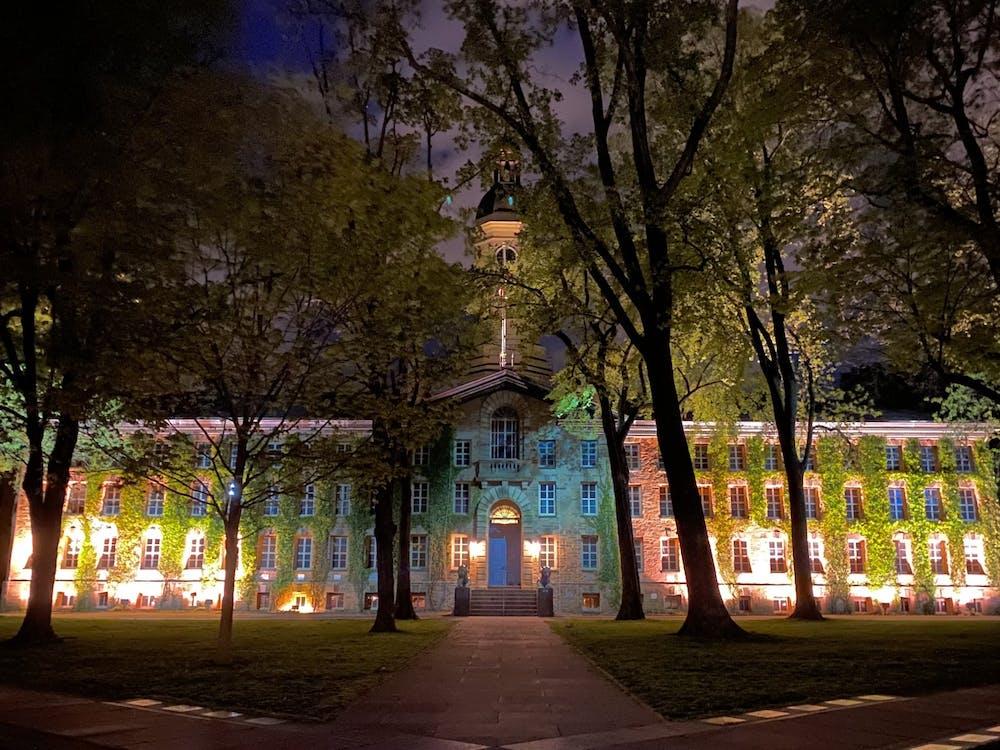Nassau Hall at night Rebecca Cao / The Daily Princetonian