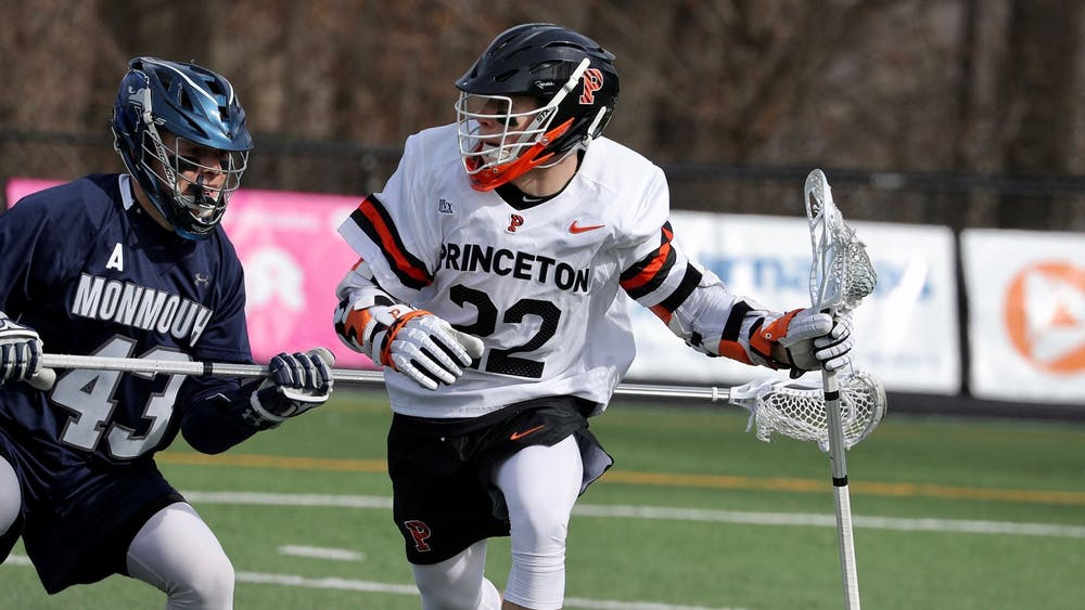 Earlier this season, senior Michael Sowers broke the Ivy League record For points in a game with 14. Photo courtesy of Shelley M. Szwast / Princeton Athletics