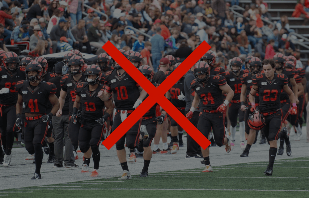 <h5>The football team, like other fall athletes, saw their season canceled.</h5> <h6>Jack Graham / Kenny Peng / The Daily Princetonian</h6>