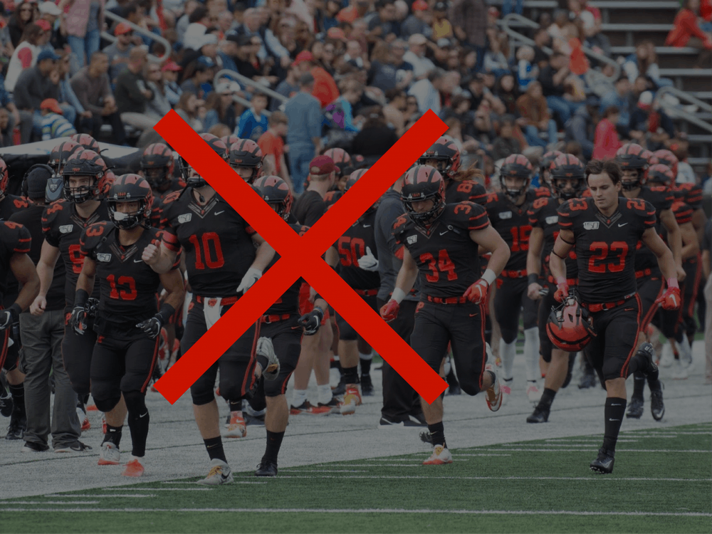 The football team, like other fall athletes, saw their season canceled. Jack Graham / Kenny Peng / The Daily Princetonian