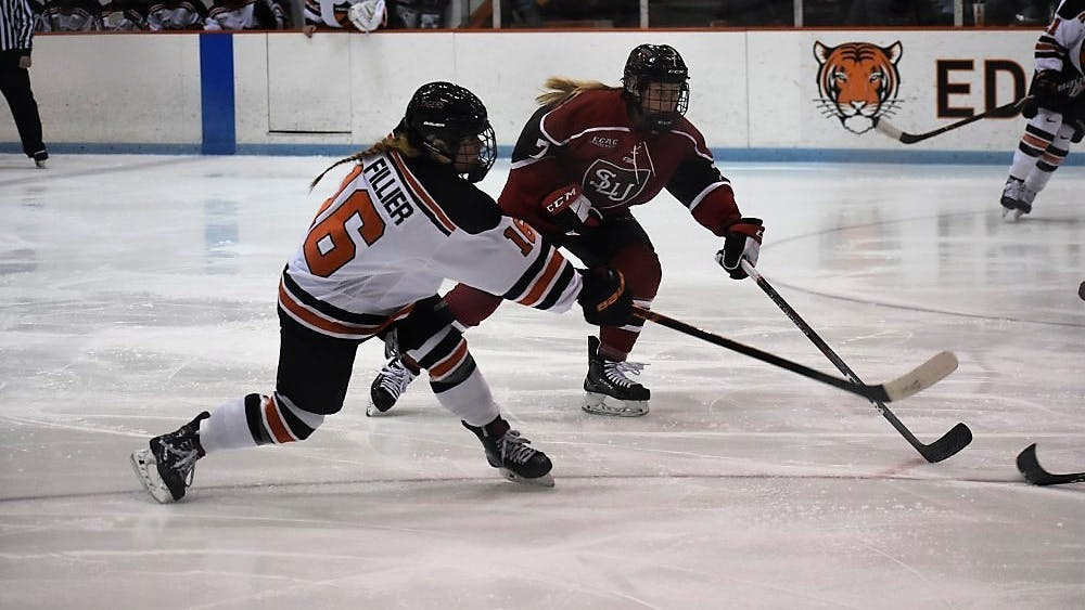 Sarah Fillier helped lead Princeton past St. Lawrence in the ECAC quarterfinals