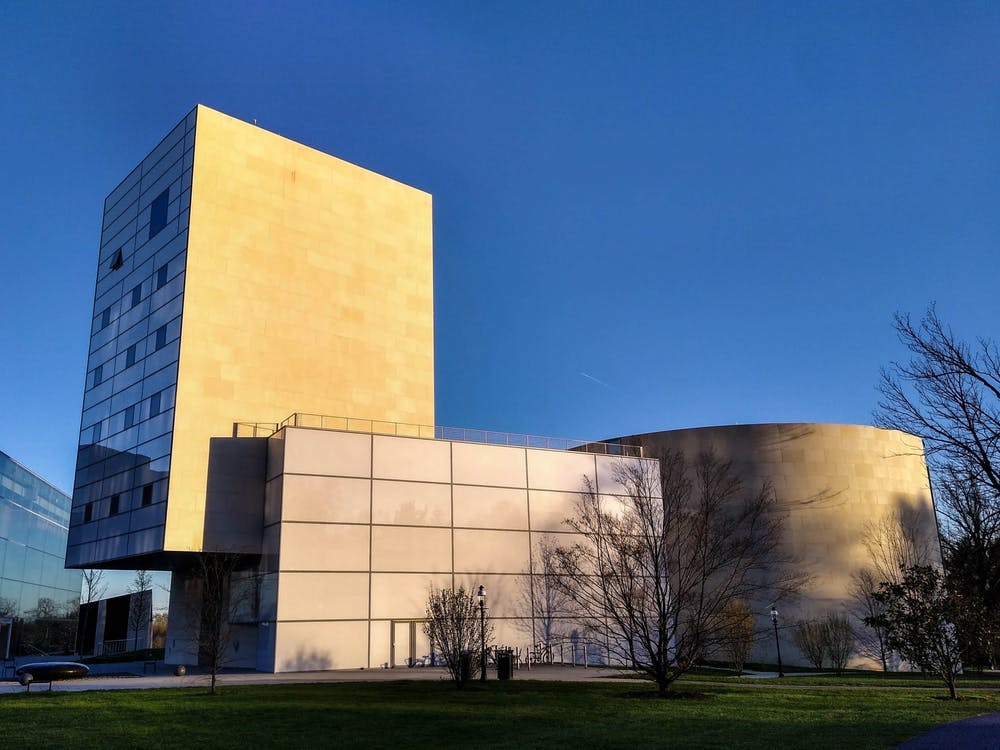 <h5>The Lewis Center for the Arts in the early evening.</h5> <h6>Mark Dodici / The Daily Princetonian</h6>
