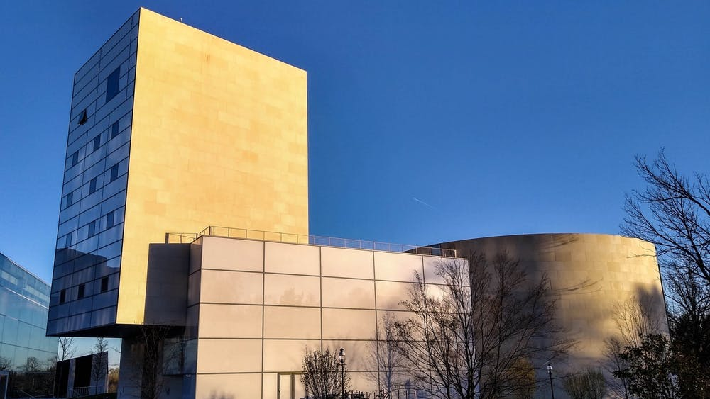 The Lewis Center for the Arts in the early evening. Mark Dodici / The Daily Princetonian