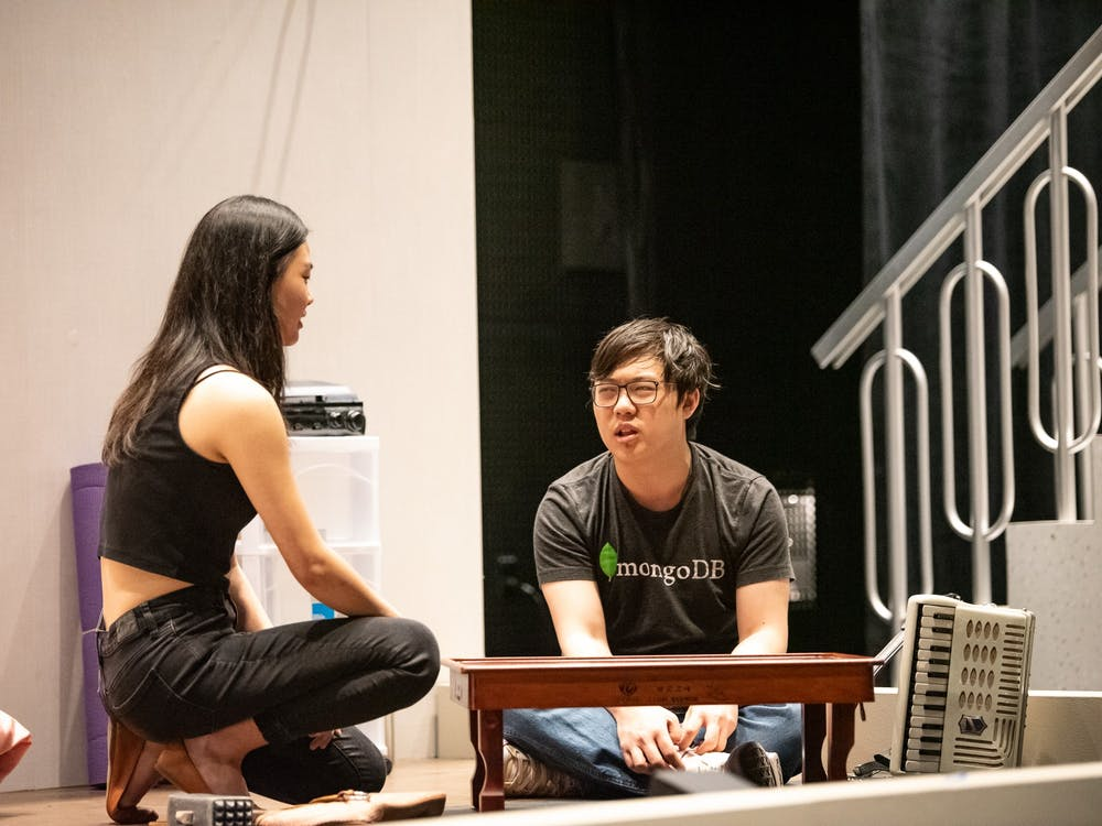 Carol Lee (left) and Carl Sun (right) at a rehearsal Photo courtesy of Felicity Audet