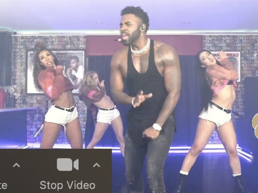 Derulo dancing on mute in his kitchen, a few feet from what looked to be $80k in cash Zachary Shevin / The Daily Princetonian