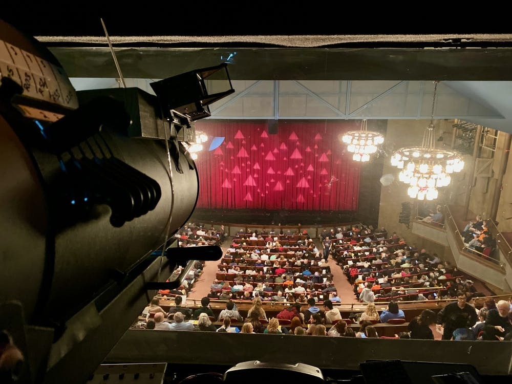 The view as a spotlight operator for Triangle. José Pablo Fernández García / The Daily Princetonian