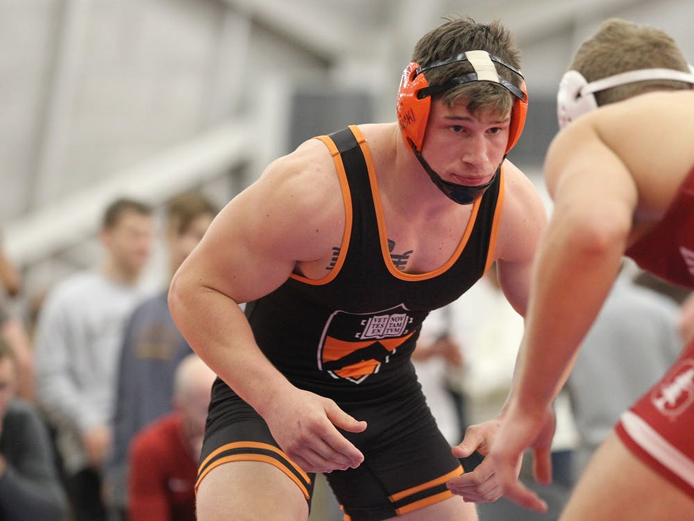 Patrick Brucki and Princeton wrestling will look to build off last year's success. Photo Courtesy of Beverly Schaefer / GoPrincetonTigers.com