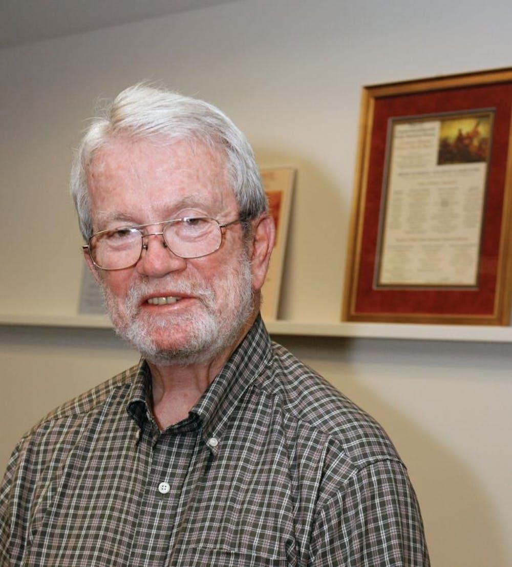 <h6>Professor John Murrin.</h6> <h6>Courtesy of Beverly Schafer</h6>