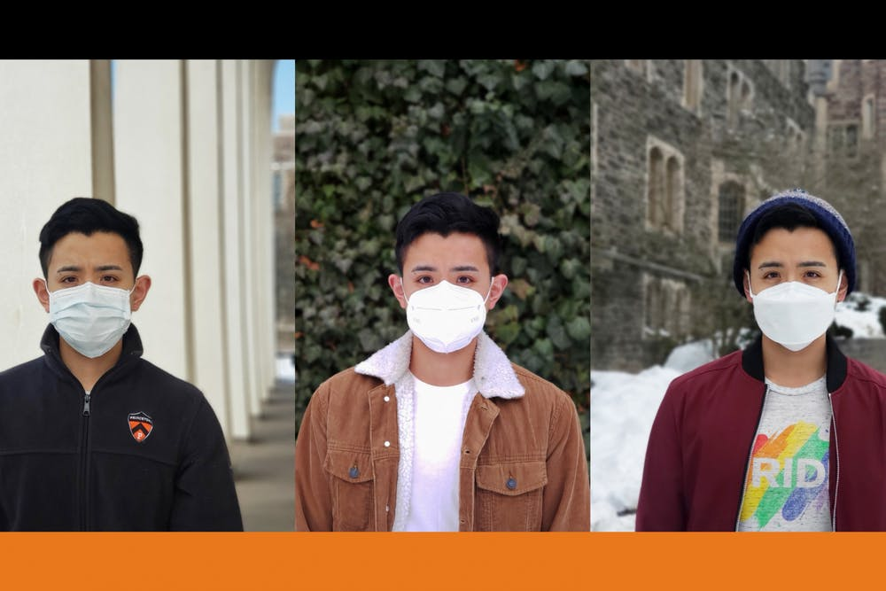 """<h5 class=""""text-align-left"""">The author wearing (from left to right) a Taiwanese government-issued surgical mask, Chinese KN95 mask, and South Korean KF94 mask. By March 2020, all three countries had instituted mass production, distribution, and quality assurance programs for these masks, ensuring their access to all citizens at affordable prices.&nbsp;</h5> <h6>Courtesy of Mark Lee</h6>"""