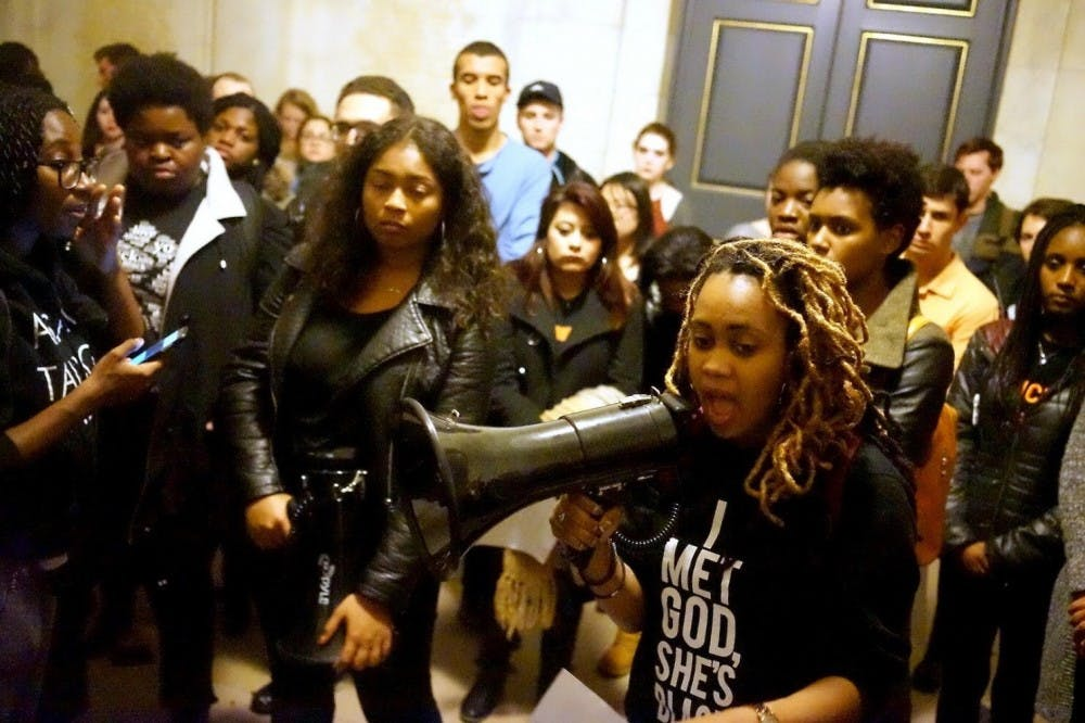 Protesters after the sit-in in the President's office. Courtesy of Joanna Anyanwu '15 GS.