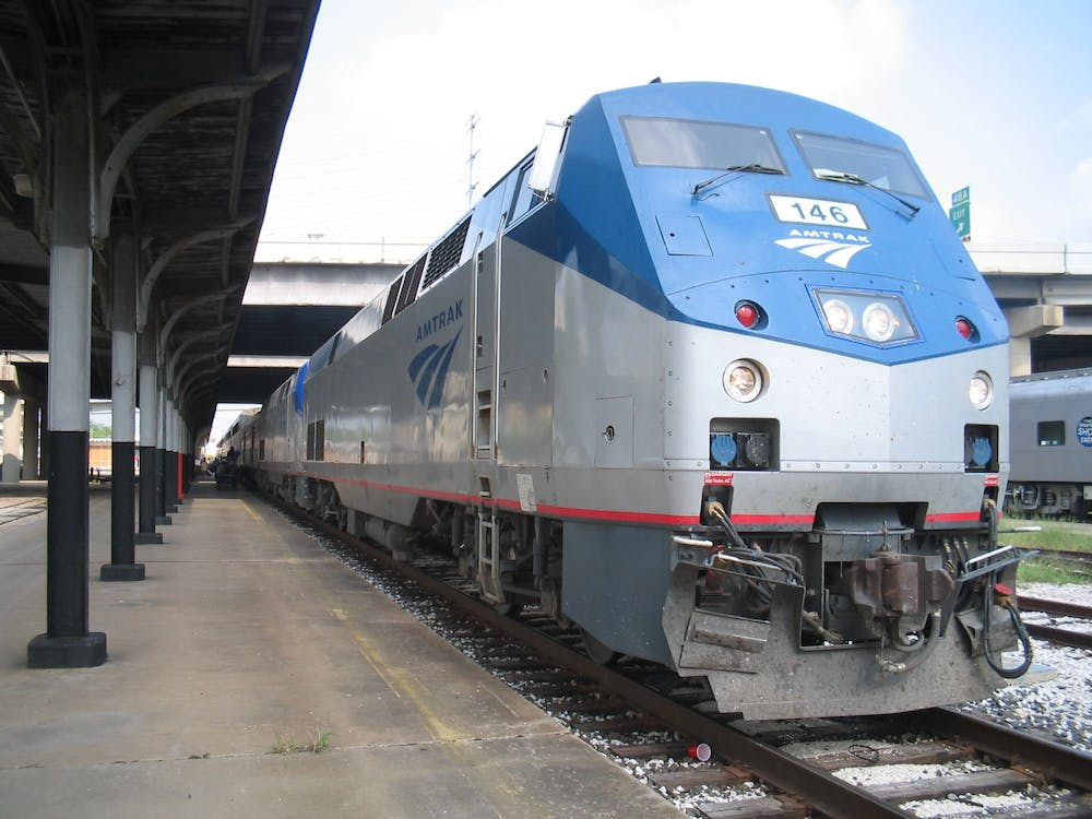 "<p>An Amtrak train.</p> <h6>Photo Credit: DanielHolth / <a href=""https://commons.wikimedia.org/wiki/File:Amtrak_146_GE_P42DC.jpg"" target=""_self"">Wikimedia Commons</a></h6>"