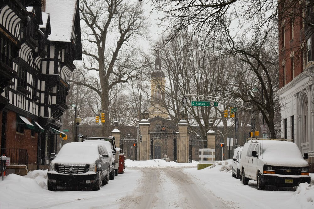 <h5>Snowy streets after a recent snowfall.&nbsp;</h5> <h6>Mark Dodici / The Daily Princetonian</h6>