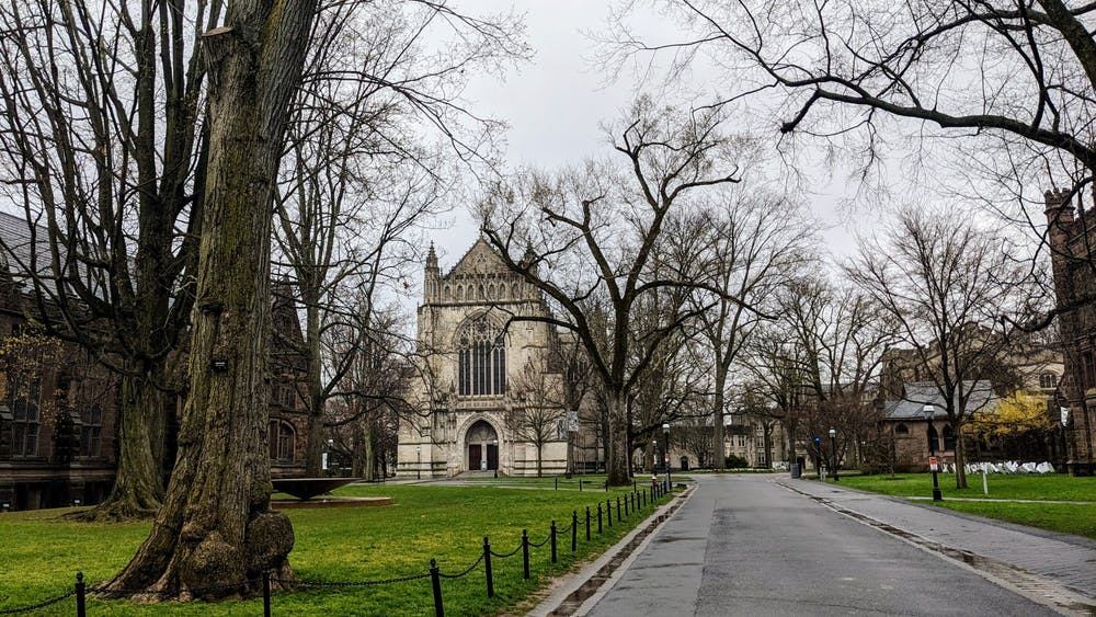 A view of the University Chapel on a rainy day.  Candace Do / The Daily Princetonian