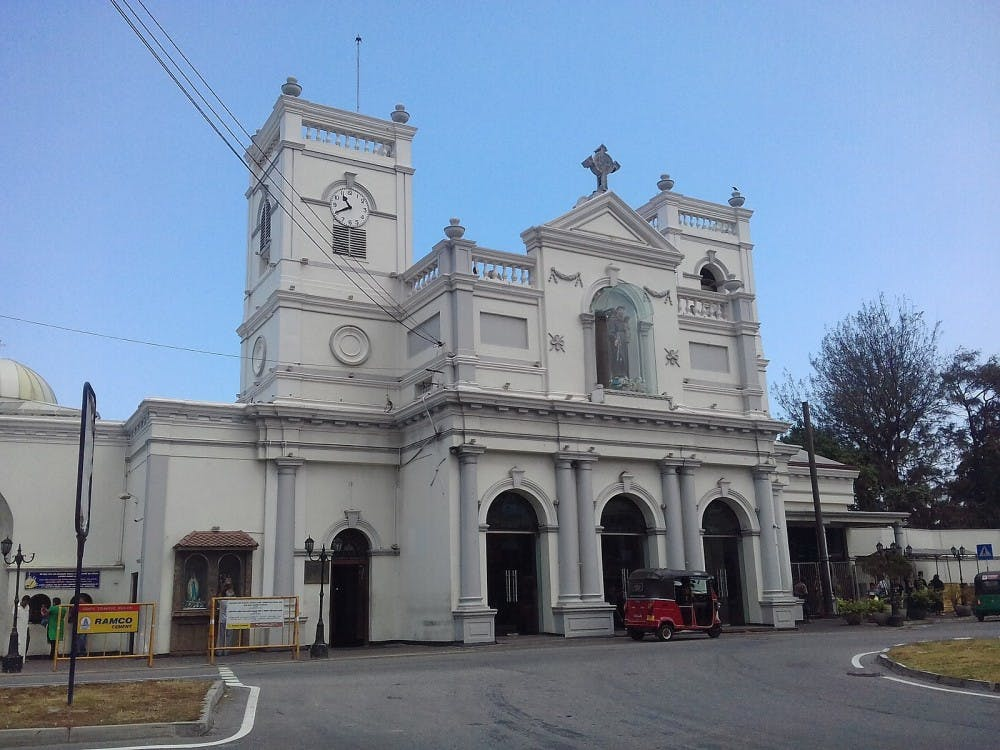 St. Anthony's Shrine, one of the targets in the 2019 Sri Lanka Easter bombings.  Photo Credit: AntanO / Wikimedia Commons