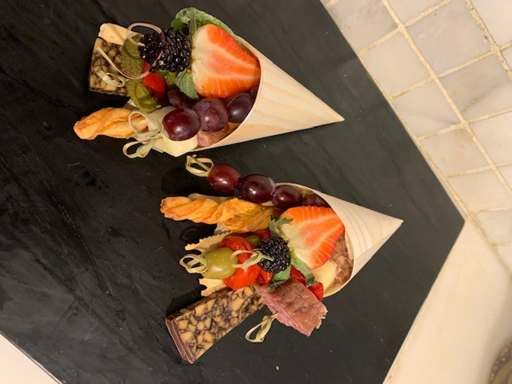 <h5>Edible arrangements from Olsson's.</h5> <h6>Courtesy of Michele Adams</h6>