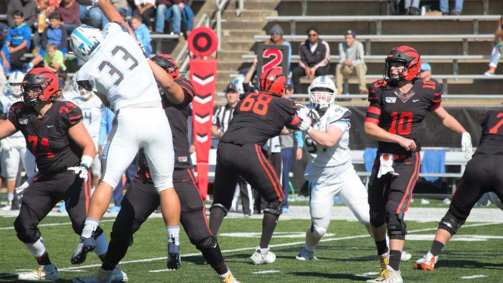 Kevin Davidson bounced back from an early interception to lead Princeton over Columbia. Photo Credit: Jack Graham / The Daily Princetonian