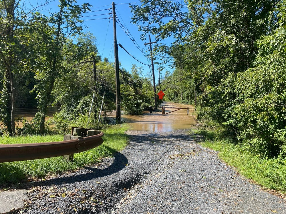 <h5>The flooded towpath on Thursday morning.&nbsp;</h5> <h6>Justin Cai / The Daily Princetonian</h6>