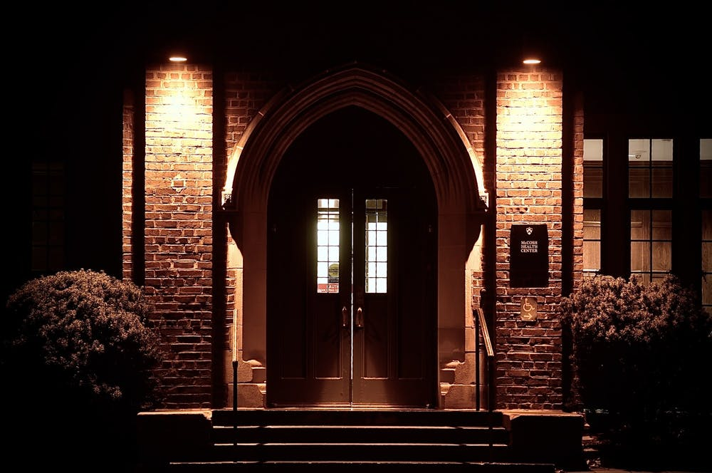 <h5>The entrance to McCosh Health Center.</h5> <h6>Jon Ort / The Daily Princetonian</h6>