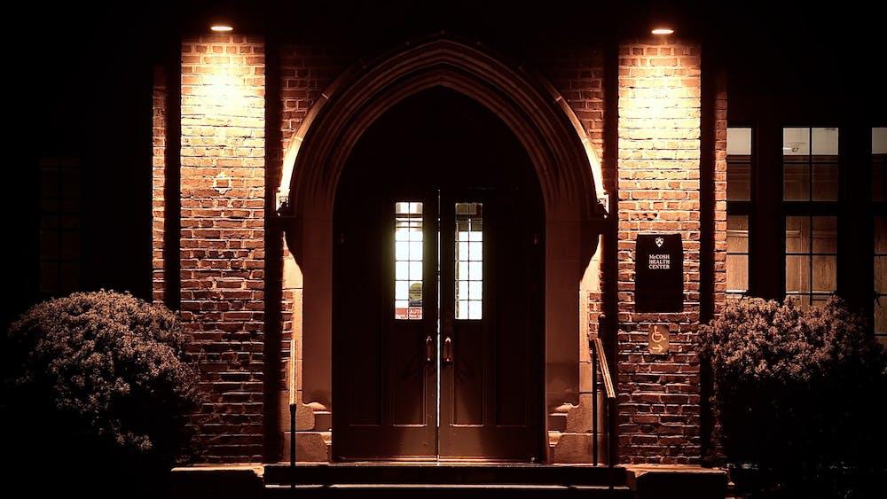 The entrance to McCosh Health Center. Jon Ort / The Daily Princetonian