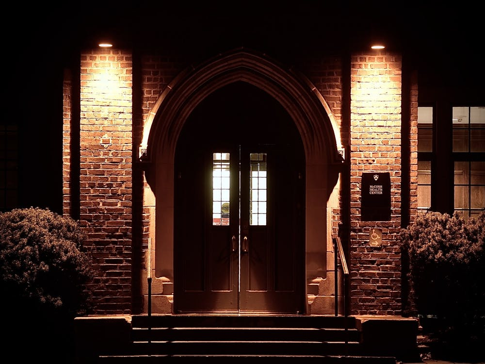 The entrance to McCosh Health Center. Jon Ort / The Daily Princetonian