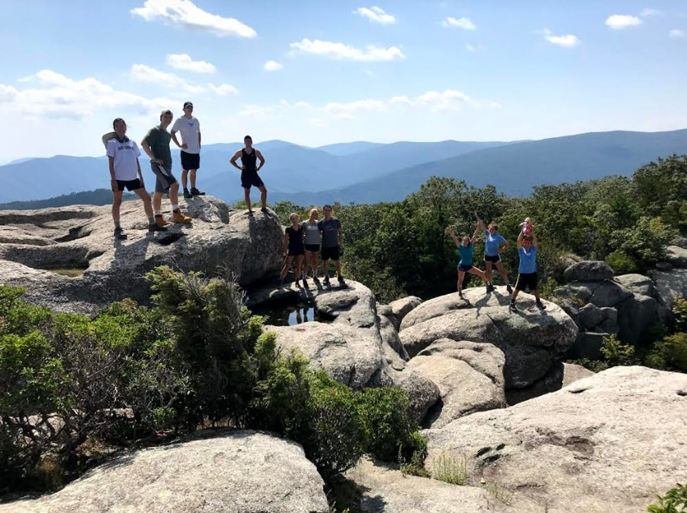 <h5>An OA group on top of Old Rag Mountain in Shenandoah Park, Virginia, in a non-pandemic year.</h5> <h6>Thomas Morris '20 for The Daily Princetonian</h6>