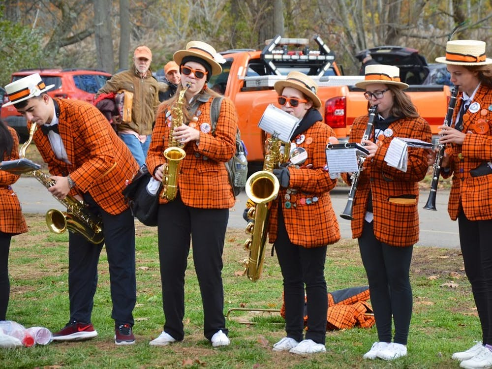 """Princeton Band at a tailgate in New Haven prior to a Princeton-Yale football game. """"Princeton Band At The Tailgate"""" by Joe Shlabotnik / CC-SA 2.0"""