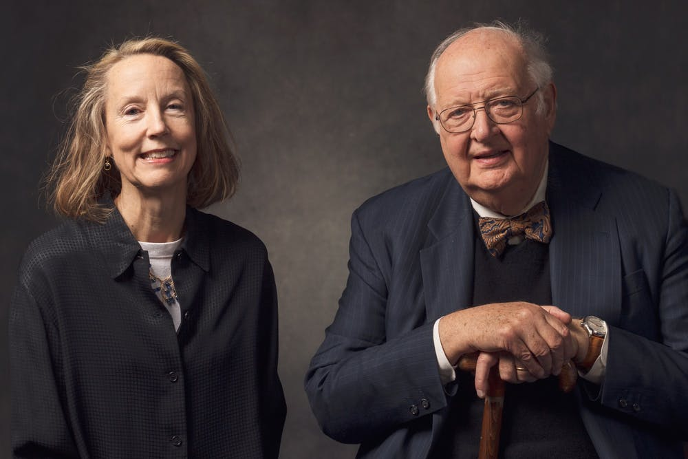 <h6>Professors Anne Case (left) and Angus Deaton (right).</h6> <h6>Courtesy of Lori A. Mitrano</h6>
