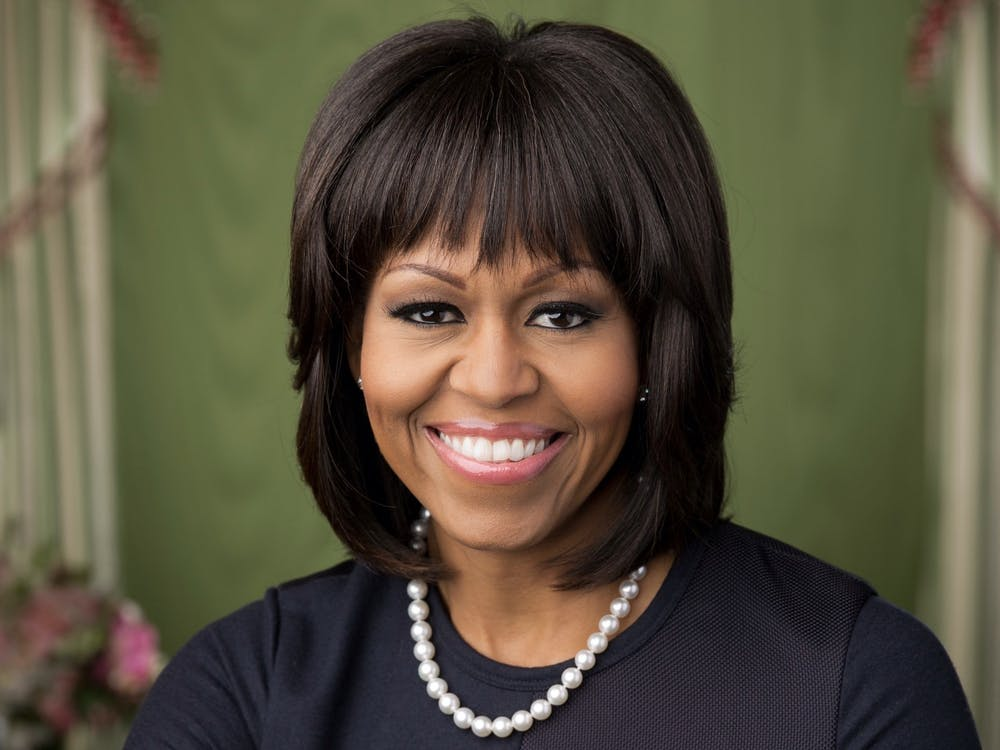 First Lady Michelle Obama '85 posed for her official portrait in 2013. Courtesy of The White House / Chuck Kennedy