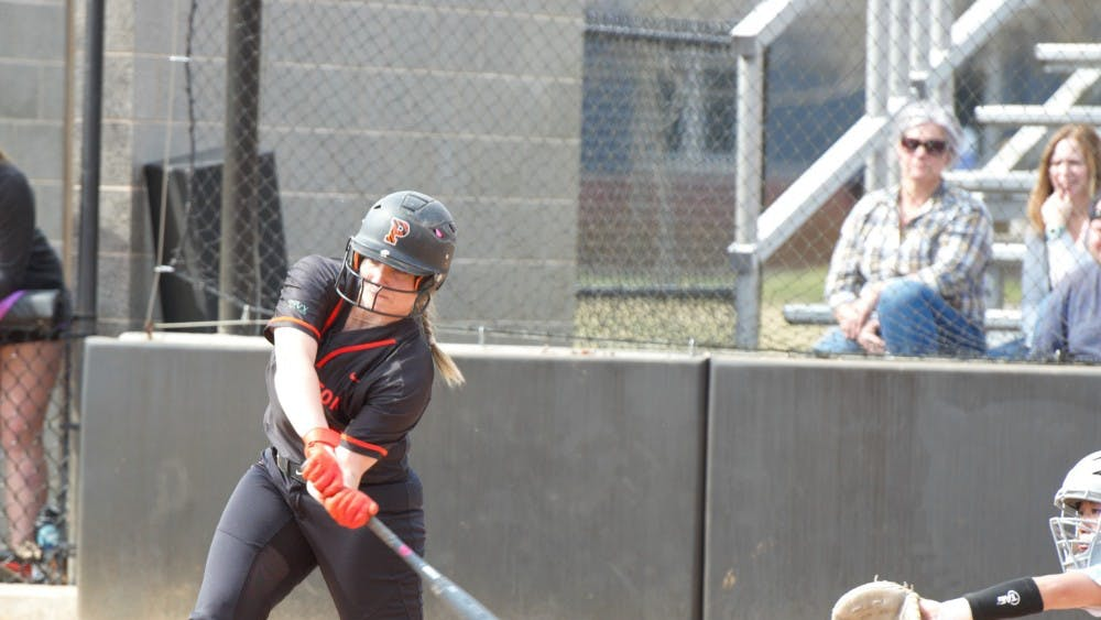 Photo Caption: Kaylee Grant swings in the second leg of Saturday's doubleheader against Columbia. Photo Credit: Jack Graham / The Daily Princetonian