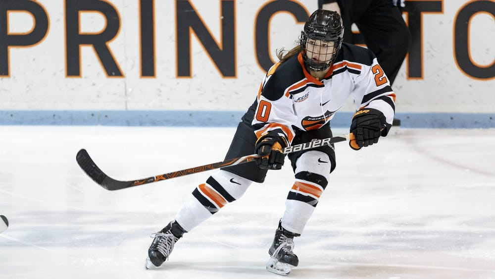 <p>Carly Bullock scored the lone goal in Princeton's win over Colgate.</p> <h6>Photo Credit: Shelley M. Szwast / goprincetontigers.com</h6>