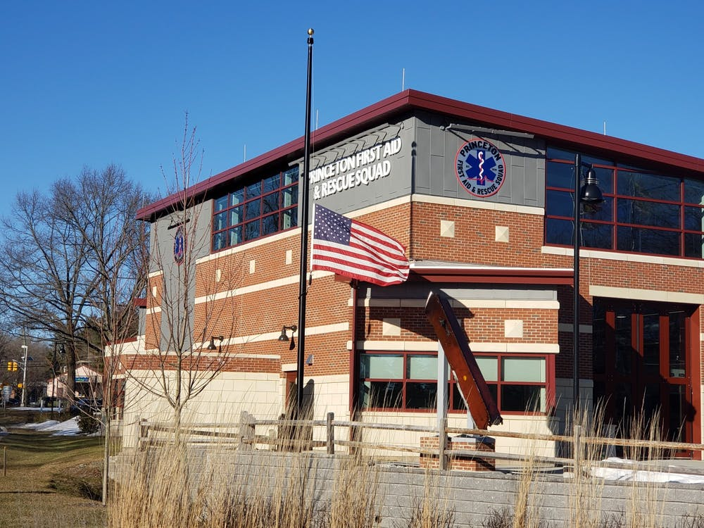 <h5><strong>An American flag flies at half-staff outside of the Princeton First Aid &amp; Rescue Squad Building, in memory of the 500,000 Americans who have died since the start of the COVID-19 pandemic.</strong></h5> <h6><strong>Mark Lee / The Daily Princetonian</strong></h6>