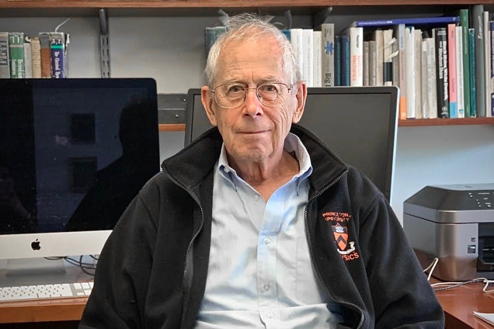 """<p>James Peebles *62 was awarded the Nobel Prize in Physics on Oct. 8 """"for theoretical discoveries in physical cosmology.""""</p> <h6>Photo Credit: Emily Spalding / The Daily Princetonian</h6>"""