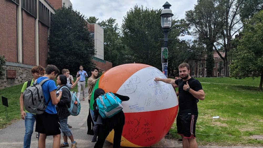 U.'s Turning Point USA chapter hosted a Free Speech Ball event earlier this fall.