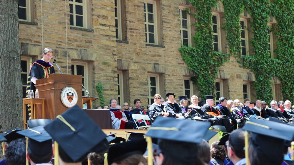 Commencement in 2014. Courtesy of Lisa Gong