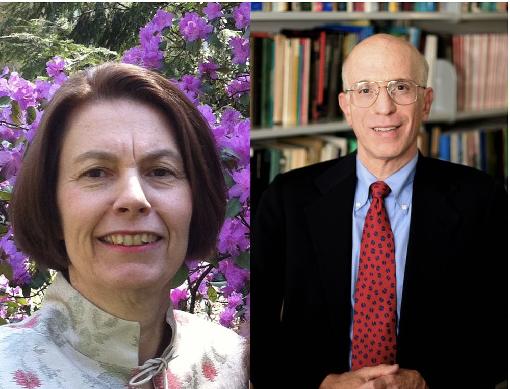 <p>Senior economics lecturer Elizabeth Bogan (left) and Gordon S. Rentschler Memorial Professor of Economics and Public Affairs Alan Blinder (right).</p> <p>Courtesy of Elizabeth Bogan; Courtesy of Princeton Office of Communications.</p>