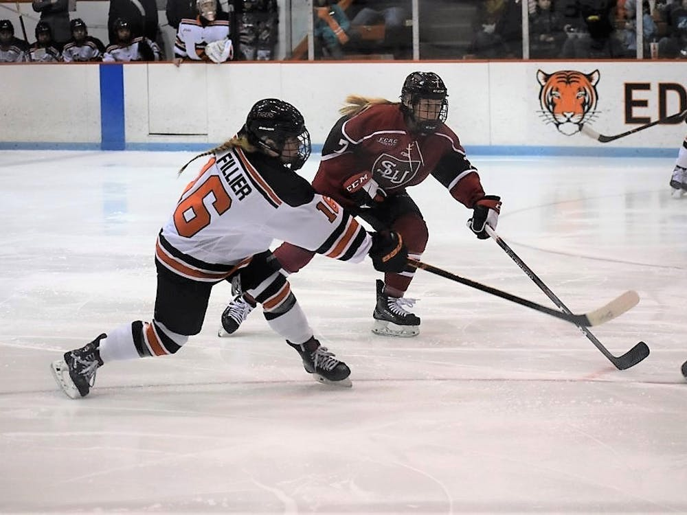 Sarah Fillier and Princeton women's hockey will take on Syracuse this weekend. Photo Credit: Owen Tedford / The Daily Princetonian