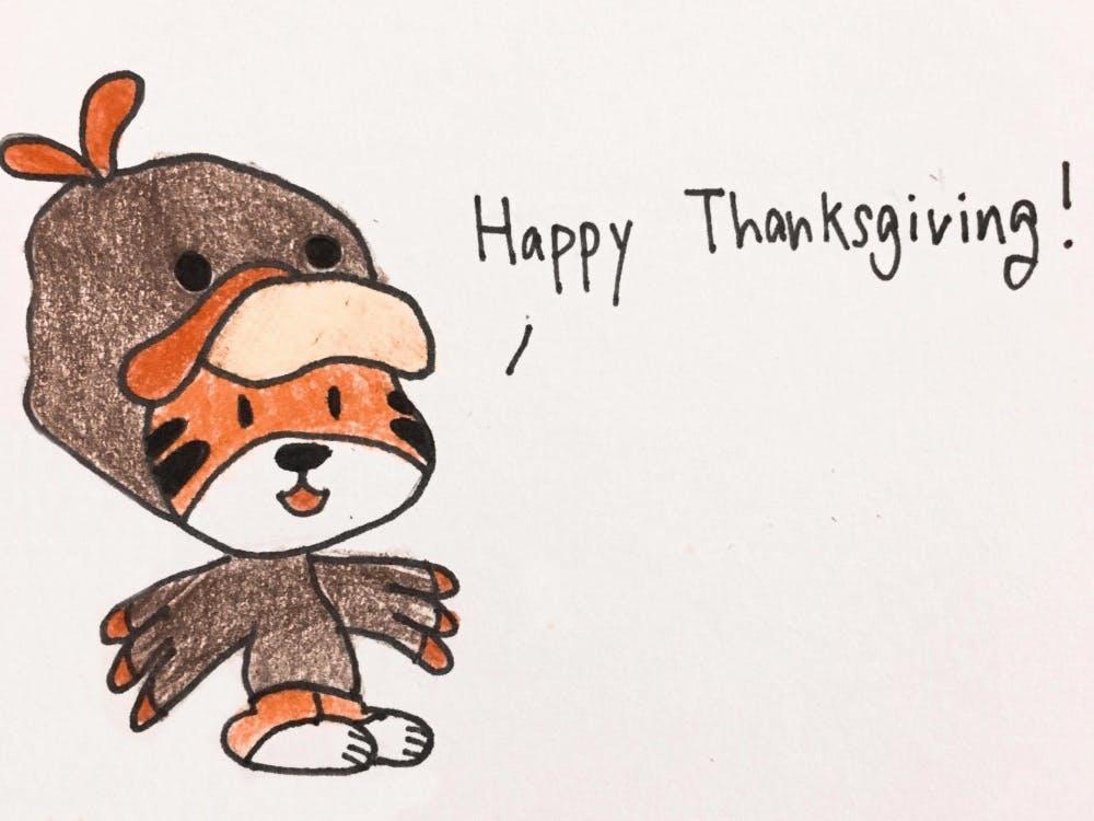 _Happy Tiger Thanksgiving,_ Dave Shin '18
