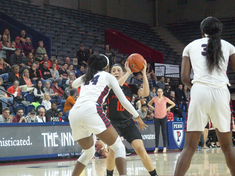 Grace Stone and Princeton beat Penn 75-55 at the Palestra. Photo Credit: Jack Graham / The Daily Princetonian.