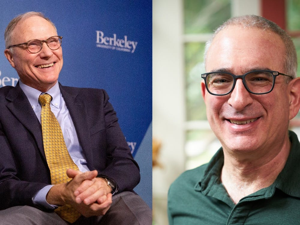 Left: David Card GS '83 discusses his work and receiving the Nobel Prize during an interview at UC Berkeley on Monday. Right: MIT economist and Nobel laureate Joshua Angrist GS '89. Brittany Hosea-Small / UC Berkeley Lillie Paquette