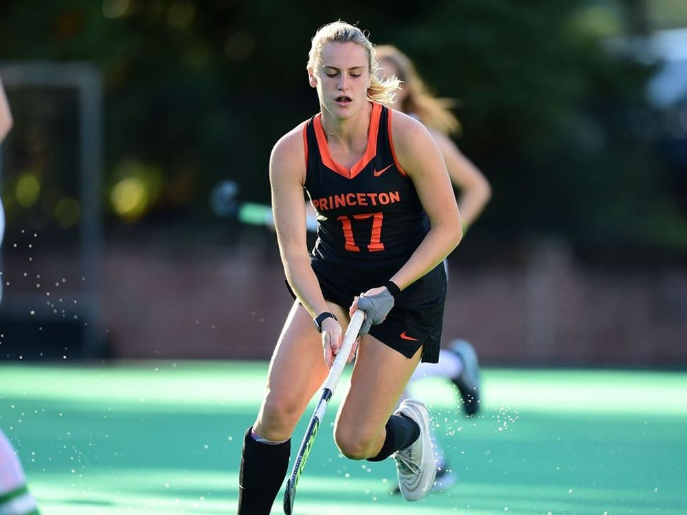 Beth Yeager in a game against UConn. Ryan Samson / GoPrincetonTigers