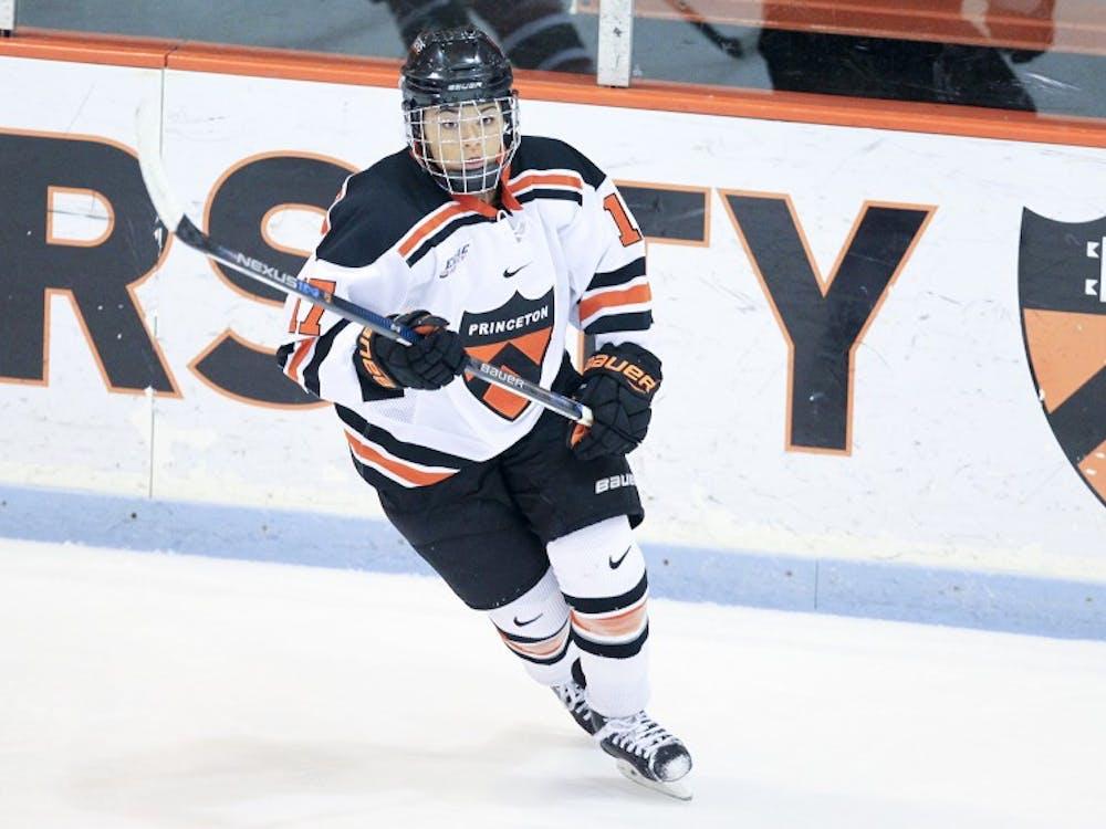 "Princeton University women""s hockey vs. St. Lawrence University, Princeton, NJ, November 4, 2016."
