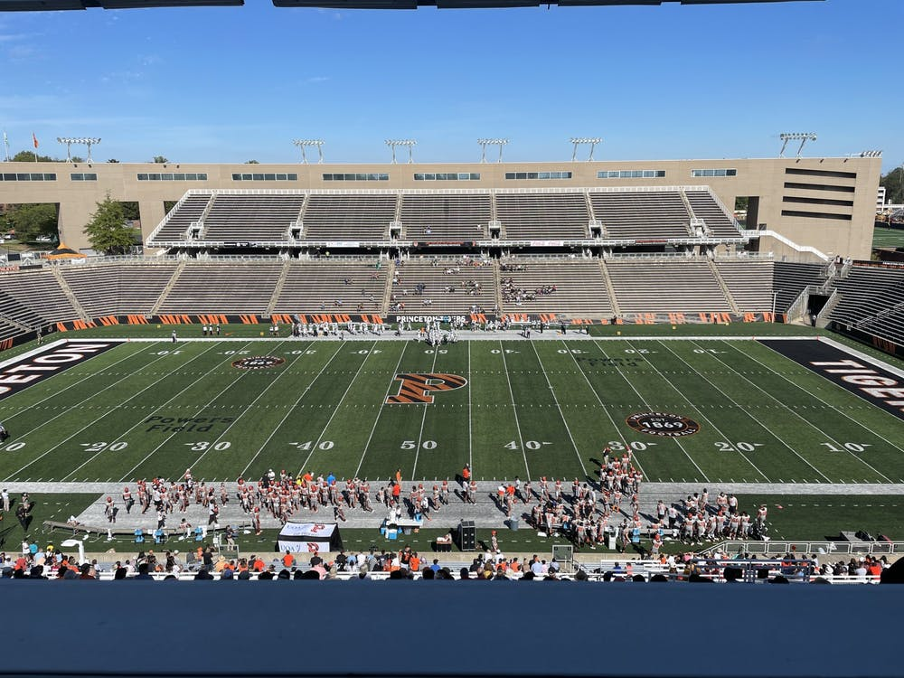 <h5>The football stadium during the Tigers' game against Stetson.</h5> <h6>Wilson Conn / The Daily Princetonian</h6>