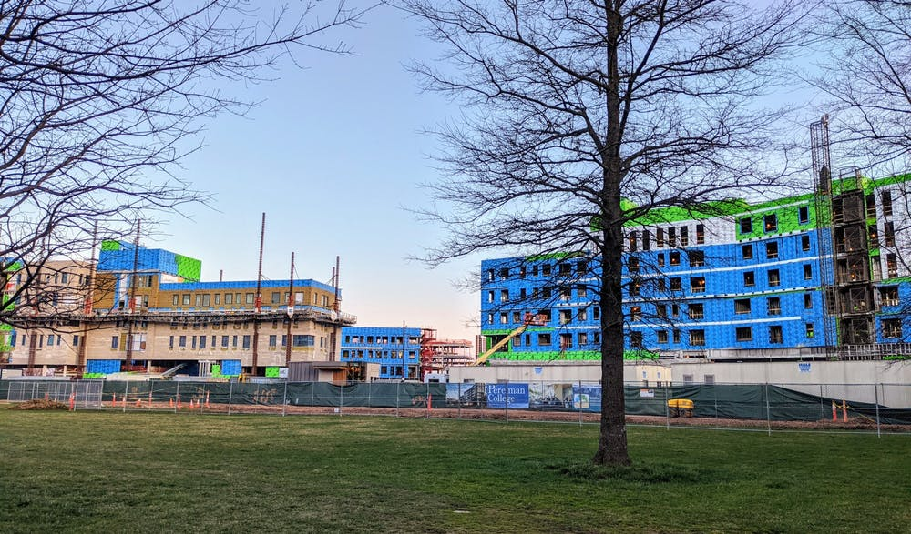 <h5>Construction continues on the two new residential colleges next to Poe Field.&nbsp;</h5> <h6>Candace Do / The Daily Princetonian</h6>
