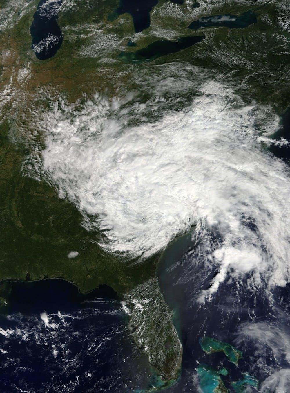 Satellite image of Hurricane Florence. Courtesy of Wikimedia Commons.