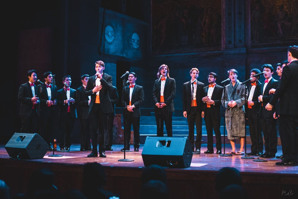 <h5>Princeton Footnotes at their 2018 Holiday Jam.</h5> <h6>Photo Credit: Nicolas Chae '21 for Princeton Footnotes</h6>