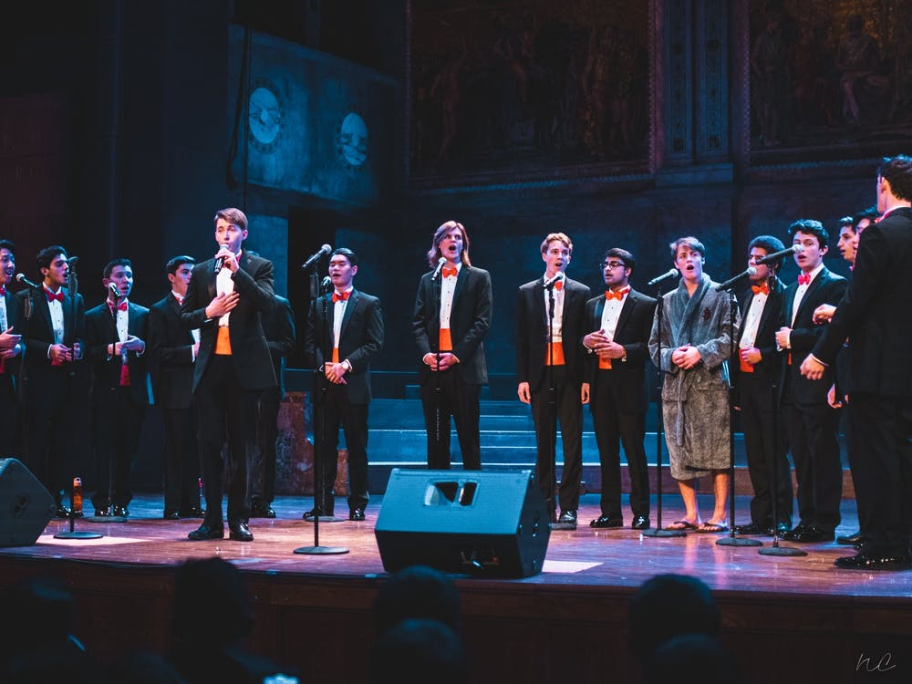 Princeton Footnotes at their 2018 Holiday Jam. Photo Credit: Nicolas Chae '21 for Princeton Footnotes