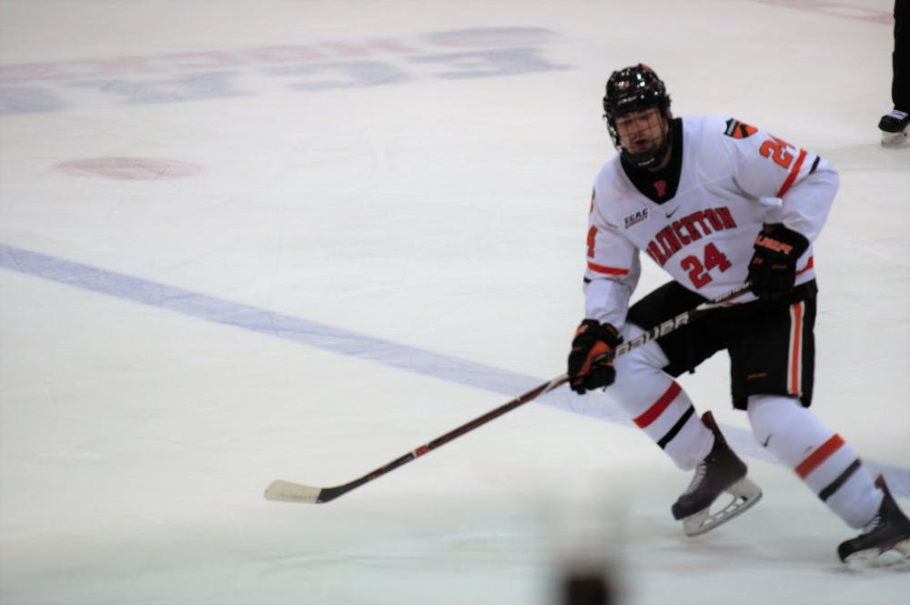 <p>Matthew Thom and Princeton hockey will take the ice at Baker Rink this weekend.</p> <h6>Photo Credit: Jack Graham / The Daily Princetonian</h6>