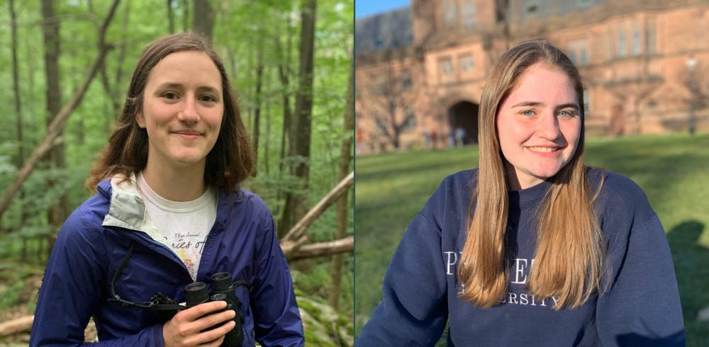 <h6>Claire Wayner '22 and Jessica Lambert '22.</h6> <h6>Courtesy of Princeton Environmental Institute</h6>