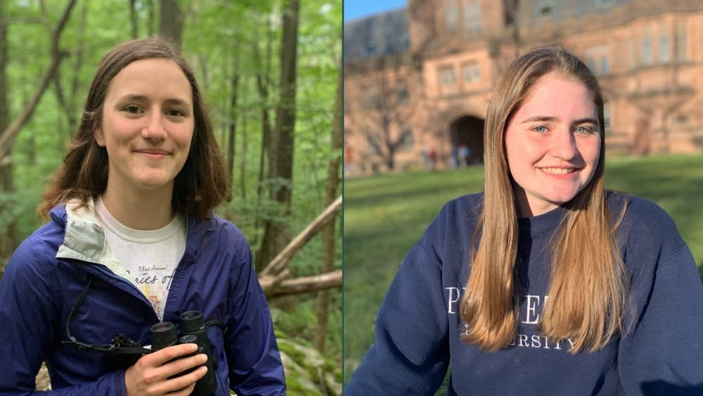 Claire Wayner '22 and Jessica Lambert '22. Courtesy of Princeton Environmental Institute