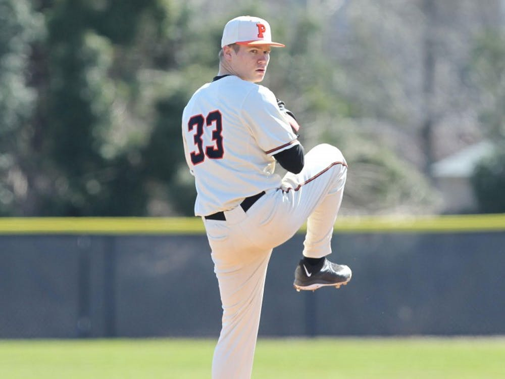 Photo Caption: Senior Ryan Smith pitched well against Harvard, but nonetheless endured 4 unearned runs. Photo Credit: Beverly Schaefer / GoPrincetonTigers